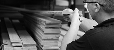 timber materials being selected