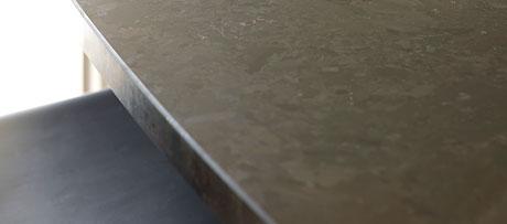 Antique brown granite worksurface
