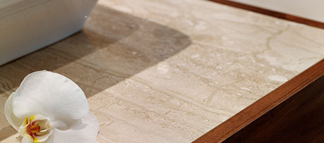 Breccia sardo marble worksurface