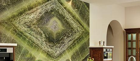 Irish green marble worksurface