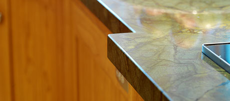 Verdi fantastico granite worksurface