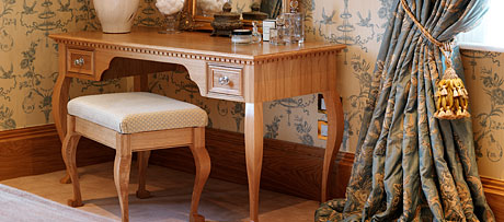 Dressing table and stools