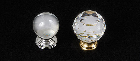 Lead crystal knobs