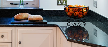Emerald black granite worksurface
