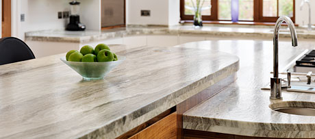 Fantasy brown granite worksurface