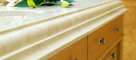 Travertine navona worksurface