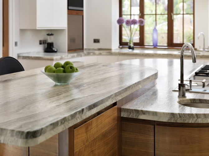 Luxury Designer Granite And Wood Worksurfaces